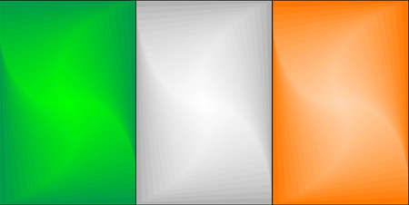 Ireland Gradient Flag - Illustration,  Three dimensional flag of Ireland Stock Illustratie