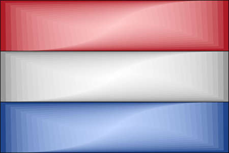 Netherlands Gradient Flag - Illustration,  Three dimensional flag of Netherlands Stock Illustratie