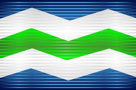 Shiny Grunge flag of the Burlington - Illustration,  Three dimensional flag of Burlington 向量圖像