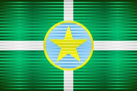 Shiny Grunge flag of the Jackson - Illustration,  Three dimensional flag of Jackson