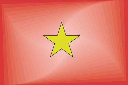 Vietnam Gradient Flag - Illustration,  Three dimensional flag of Vietnam