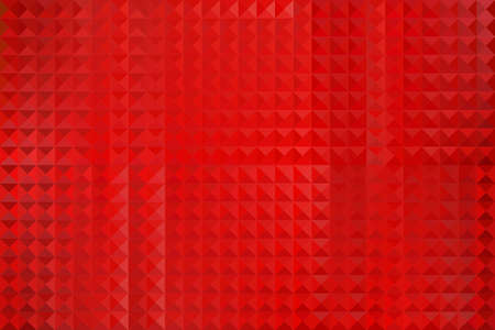 Abstract Red Geometric Shapes Background - Illustration,  Three dimensional mosaic vector