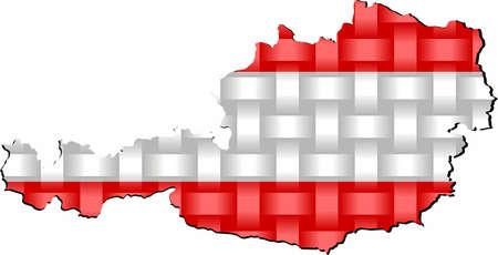 Austria Map - Illustration,  Three dimensional Map of Austria