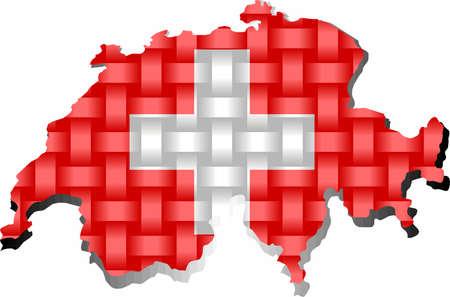 Switzerland Map - Illustration,  Three dimensional Map of Switzerland 矢量图像