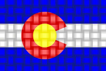 Colorado Flag Background - Illustration,  Three dimensional flag of Colorado 矢量图像