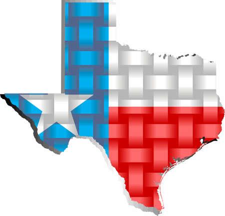 Texas Map - Illustration,  Three dimensional Map of Texas 矢量图像