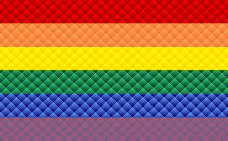 Abstract Pride flag - Illustration,  Three dimensional gay pride flag 矢量图像