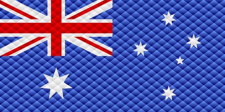Mosaic flag of the Australia - Illustration,  Three dimensional flag of Australia 矢量图像