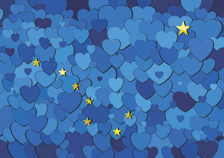 Alaska flag made of hearts background - Illustration,  Abstract mosaic flag of Alaska