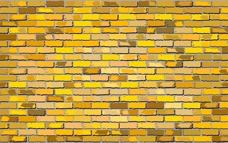 Gold brick wall - Illustration,  Abstract grunge vector illustration 矢量图像