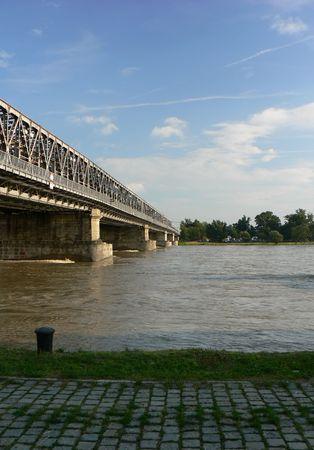 repetitious: Railway  bridge in Bratislava
