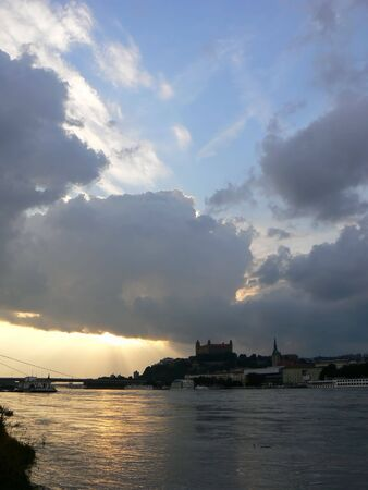 repetitious: Clouds in Bratislava Stock Photo
