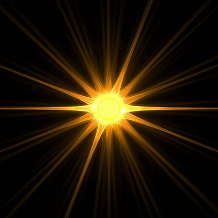 Fractal abstract - sunny day Stock Photo - 582684