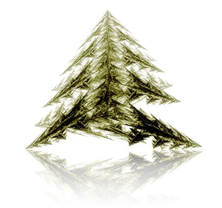 Fractal abstract - christmas tree Stock Photo - 657575
