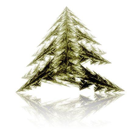Fractal abstract - christmas tree Stock Photo - 657575