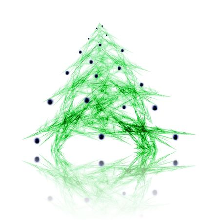 Fractal abstract - christmas tree with decorations photo