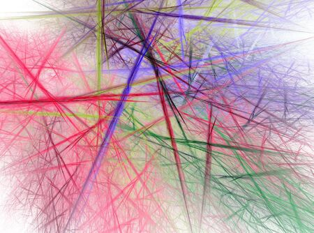 Fractal abstract - Chaotic coloured lines Stock Photo - 663144