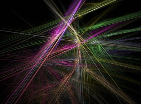 Fractal abstract - Chaotic coloured lines Stock Photo - 663143