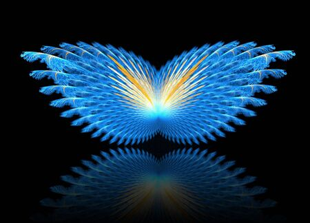 Fractal abstract - Butterfly photo