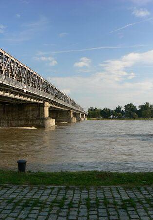repetitious: Railway bridge in Bratislava and Danube river