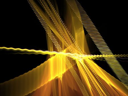 wavelet: Fractal abstract - waves