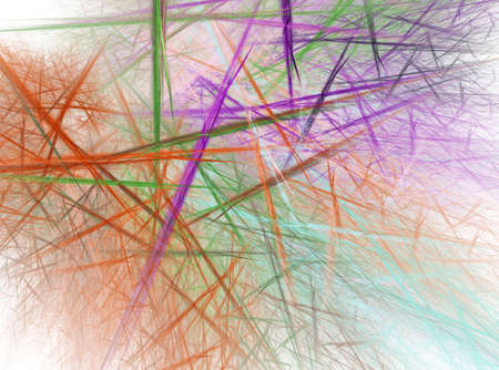 chaotic: Fractal abstract - Chaotic coloured lines Stock Photo