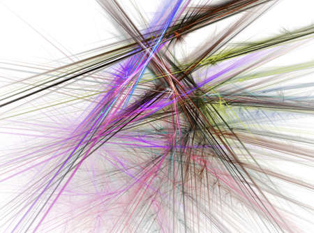 Fractal abstract - Chaotic coloured lines Stock Photo - 716227