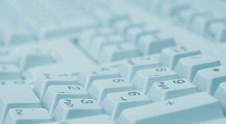 periferia: Macro di tastiera numerica (verde tono)  Archivio Fotografico