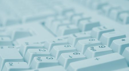 Macro of numeric keyboard (green tone) Stock Photo - 789606