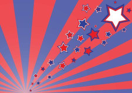 streaking: Simple retro funky rays background (illustration, vector) Stock Photo