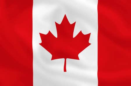allegiance: Canadian waving flag