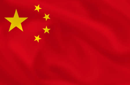 Chinese waving flag  Stock Photo