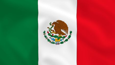 Mexican waving flag  photo