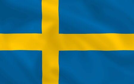 Swedish waving flag  photo