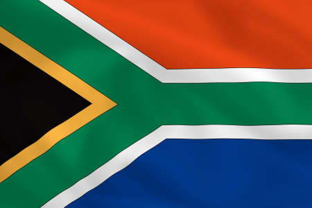 allegiance: South African waving flag