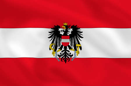Austrian waving flag  Stock Photo - 2946646