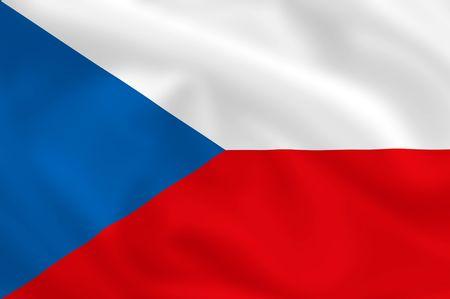 allegiance: Czech waving flag