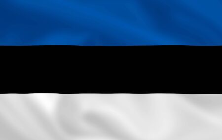 estonian: Estonian satsilk waving flag (country from europe)