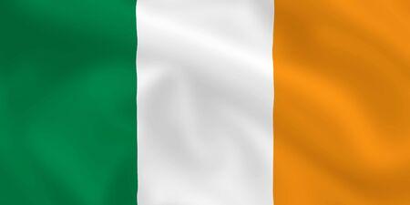 Irish satsilk waving flag (country from europe) photo