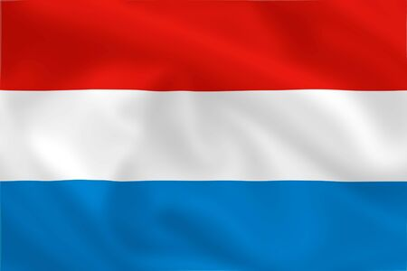 Luxembourgian satsilk waving flag (country from europe) photo