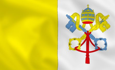 sity: Vatican sity satsilk waving flag (country from europe) Stock Photo
