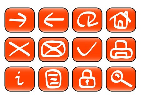 Set of miscellaneous web icons ( illustration) illustration