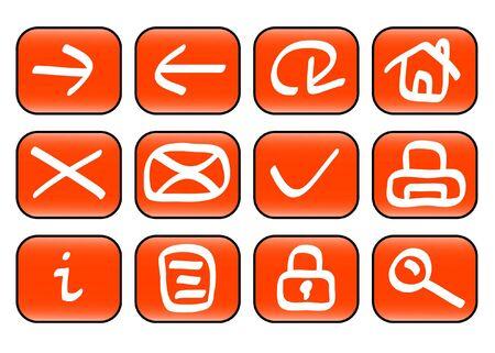 Set of miscellaneous web icons ( illustration) illustration