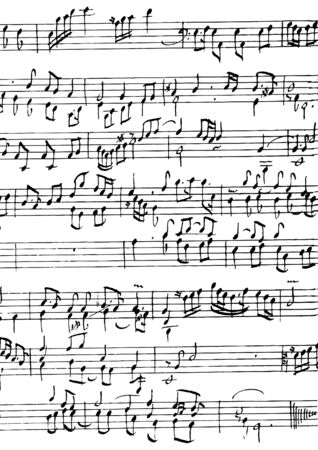 handwriting: Music notes and symbols manuscript ( illustration)