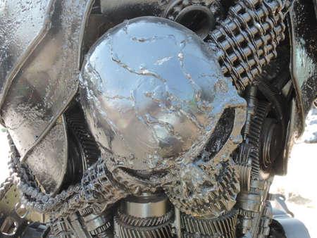 steel: Steel skull is recycle steel.