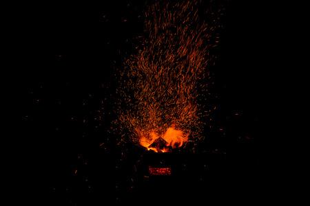 sparks: sparks of bonfire.