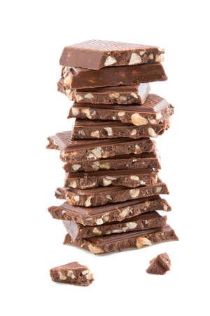 broken chocolate isolated Stock Photo - 4465603