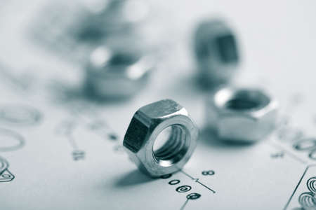 nuts over technical drawing photo