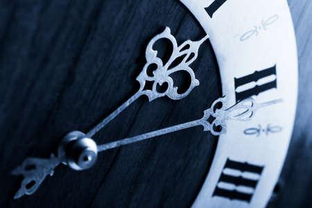 arabic numerals: antique clock dial with Arabic numerals  Stock Photo