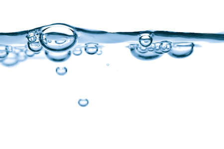 abstracte blauwe water bubbels achtergrond